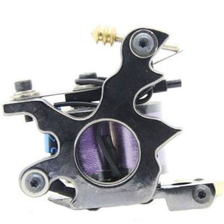 New Classical Black Tattoo Machine Gun Supply for Liner 10 Wraps Coils