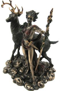 Roman Moon Goddess Diana Bronze Finish Statue Artemis