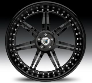 20 asanti AF146 Black Wheels Rims 3 Piece