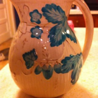 RARE Antique Avalon Faience Balt Pitcher