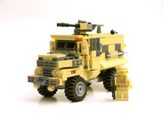 CUSTOM LEGO Army MRAP armored vehicle tank complete set with