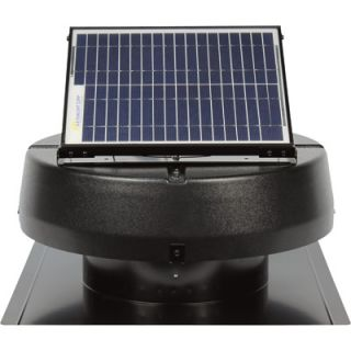 Sunlight Solar Powered Attic Fan 15W Ventilates 1900 Sq ft 9915TR