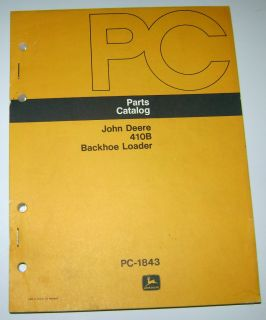 John Deere 410B Tractor Loader Backhoe Parts Catalog Manual JD Book