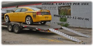 Kaufman Aluminum Auto Hauler Car Trailer Ramps 05 15 094 04 LP