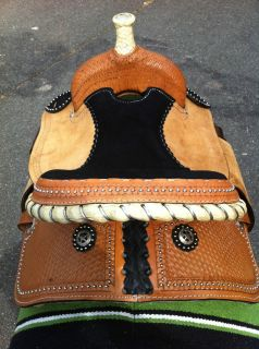 14 Barrel Racing Saddle Youth Basket Tooled