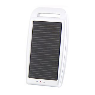 Portable Solar Power USB Battery Charger for  Phone White