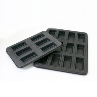 Non Stick Metal Financier Mold Baking Pan Rectangular Shaped Cakes