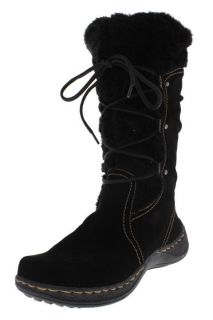 Bare Traps New Elicia Black Suede Faux Fur Lined Flat Casual Boots