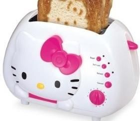Hello Kitty 2 Slice Slot Bread Begel Toast Toaster Toasting Cooking