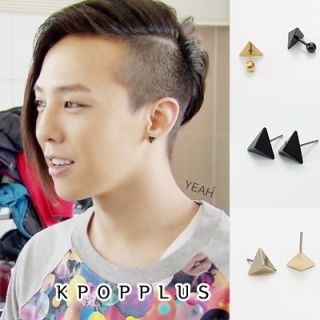 Big Bang G Dragon Triangle Black Hole Piercing Earring BB81