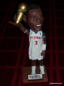 Ben Wallace Bobblehead 2004 Champion Detroit Pistons NBA Basketball
