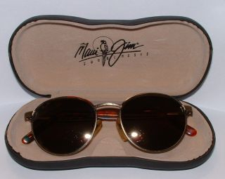 RARE Maui Jim Vintage Sunglasses MJ 167 16 with Case Very Unique Look