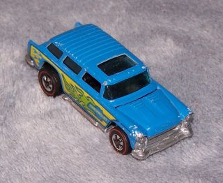 1974 Alive 55 Red Line Hot Wheels made in Hong Kong Light Blue Very