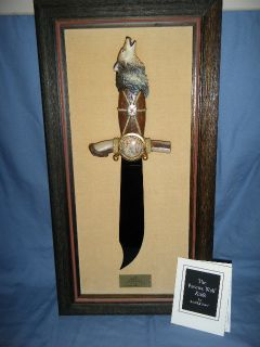 Franklin Mint The Pawnee Wolf Knife by Ben Nighthorse
