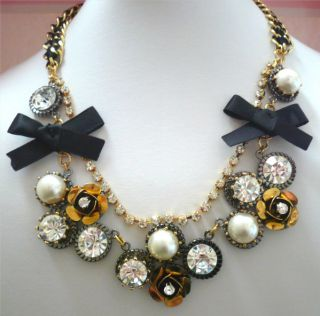 Betsey Johnson Iconic Flower Cluster Chain Necklace New