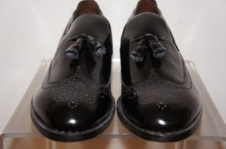 Allen Edmonds Berwick New Black Loafers Wing Tip Dress Shoes Size 14