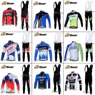 Set Winter Bicycle Bike Cycling Jersey Shirts Bib Shorts Size s XXXL