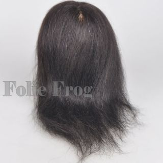 Real Human Hair Hairdressing Cosmetology Mannequin Head Black