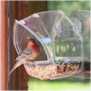 348 Birdscapes Window Bird Feeder Clear Acrylic Window Feeder