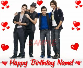 Big Time Rush Frosting Sheet Edible Cake Topper Decoration Image
