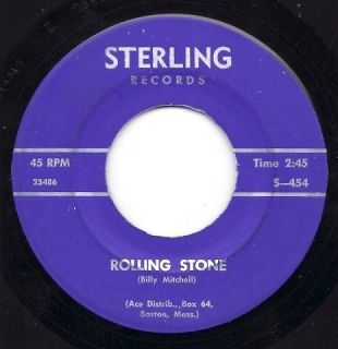 Billy Mitchell Rolling Stone on Sterling 454 rare Boston soul