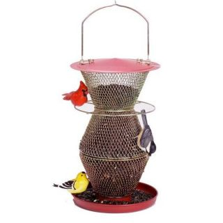 no no bird feeder no no 3 tier cardinal red brass no wood and no
