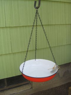 Handmade Bird Feeder Bath Reclaimed Recycled Upcycled Retro