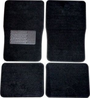 Grey Black Faux Leather Next Generation Car Seat Covers w/ Black Mats