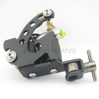 One Black Beginner Tattoo Machine Gun 8 Wraps Coil for Kit Power