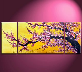60 Cherry Blossom Tree Artist Signed Original Modern Abstract Art Oil