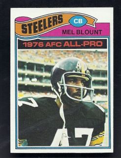 Mel Blount Pittsburgh Steelers 1977 Topps Card 180