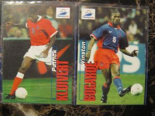 LOT OF 2 KLUIVERT and BOGARDE SOCCER CARDS PANINI 1998 WORLD CUP