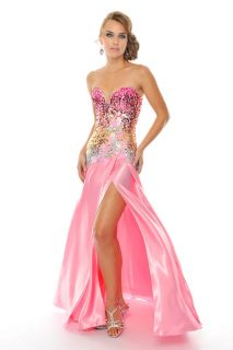 Precious Formals P55060 Pink Formal Ball Gown Prom Pageant Dress Size