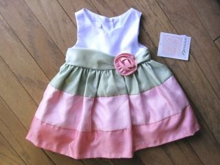 infant girls bonnie baby pink dress size 24 months