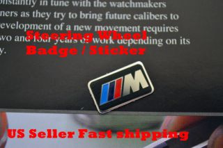 BMW M M Steering Wheel Badge Sticker Emblem M3 M5 x3 x5 M Tec Tech M