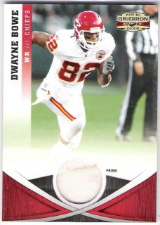 Dwayne Bowe 2011 Gridiron Gear Prime Jerseys 40 50 Kansas City Chiefs