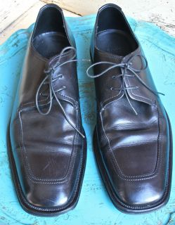 Boss by Hugo Boss Black Square Toe Oxford Mens Shoes Italy 9 5 Power