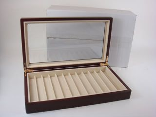 High Quality Lacquer 12 Pen Display Collectors Box Case 【Free USA