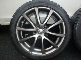 Borbet Rims Blizzak with Snow Tires 5 x 120 205 50R 17 BMW