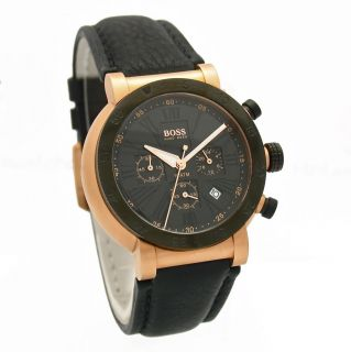 HUGO BOSS HB114 Mens Gold Chronograph Watch 1512312 NWT $550