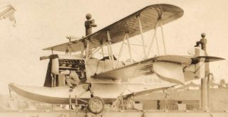 Amphibian Sea Plane on Catapult Bremerton Washington 1924