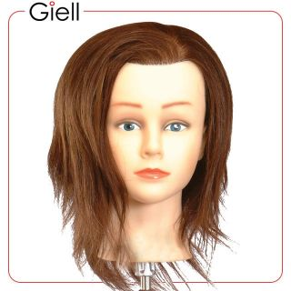 19 Cosmetology Mannequin Head Human Hair Bridgette