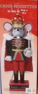 "Wooden Nutcracker Christmas Statues 24"" Tall 3 Designs Drummer Bear"