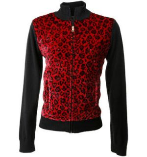red leopard jacket in Clothing,