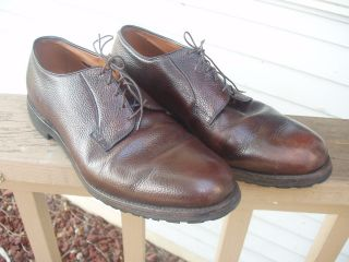 PAIR OF ALLEN EDMONDS LEEDS & BRIDGETON BROWN DRESS SHOES SIZE 13 C