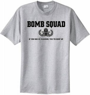 Bomb Squad T shirt US Marine Corps Army Navy Air Force USMC USN Police