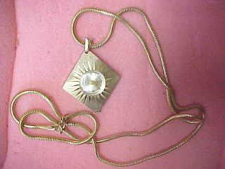 A7 Vintage Princeton Swiss Watch Necklace Pendant Wind Up Jewelry Nice