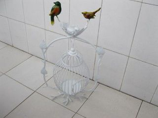 1x white luxury hanging bird cage stand wedding favor from