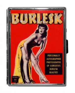 Burlesque Burlesk Revue Models Bettie Page Reflective Metal ID Stash