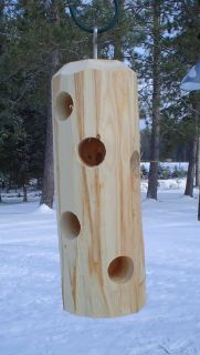 Cedar Log Suet Peanut Butter Wild Bird Feeder